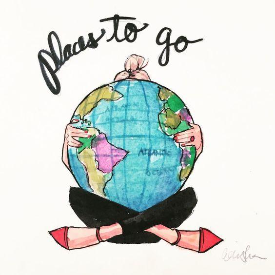 Mapa do mundo. Imagem: Pinterest.