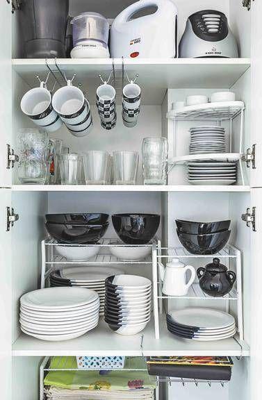Armário de louças para lavar. Imagem: Pinterest.