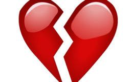 Emoji de coração partido. Imagem: Internet.