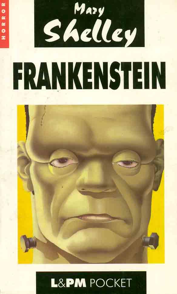 Capa do livro de bolso Frankenstein. Imagem: Internet.