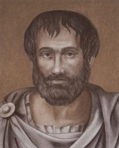 Ilustração Aristóteles. Imagem: Internet.